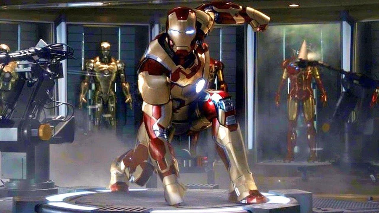 iron man 3 - mark 42 suit up scene - movie clip hd - youtube