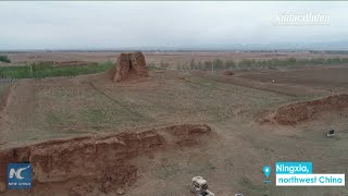 How the ancient Great Wall is being restored in NW China