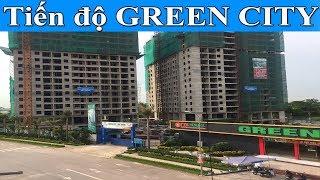 Tiến độ dự án chung cư Green city Bắc Giang ngày 22/07