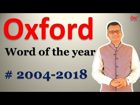 Word Of The Year By Oxford Dictionary: List From 2004 To 2018