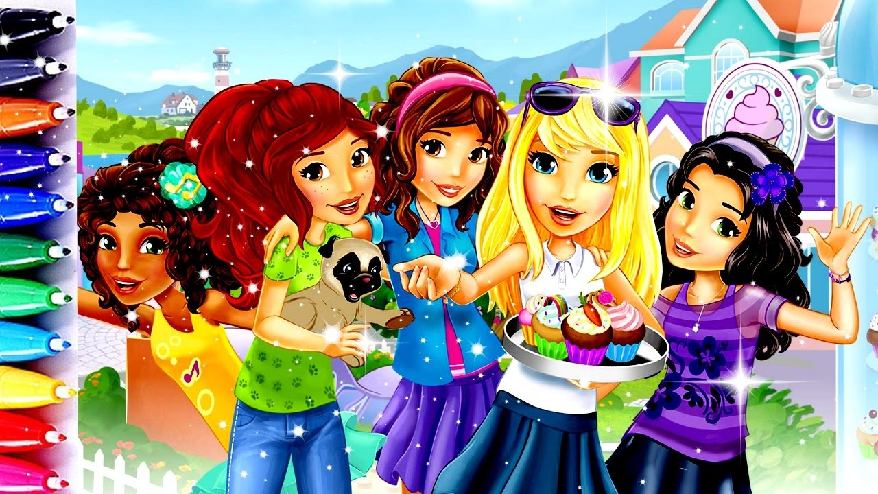 Lego Friends Coloring Book Pages