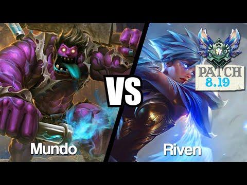 Vidéo d'Alderiate : [FR] MUNDO VS RIVEN - MON ADC TROLL  - 8.19 - DIAMANT 1