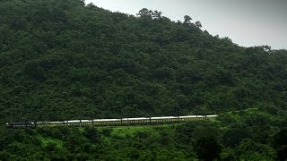 ROLLING DOWN THE MOUNTAIN EMD GARIBRATH EXPRESS : INDIAN RAILWAYS BHOR GHATS (06511 YPR JP)