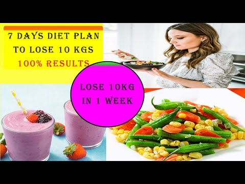 7 Days Diet Plan to Lose 10 KG | 1 WEEK Diet Plan to lose Weight Fast In Hindi