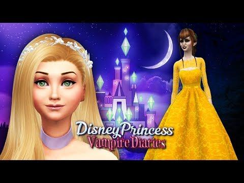 Beauty and the Beast & Princess Rapunzel | Sims 4 Disney Princess Vampire Diaries Ep 14