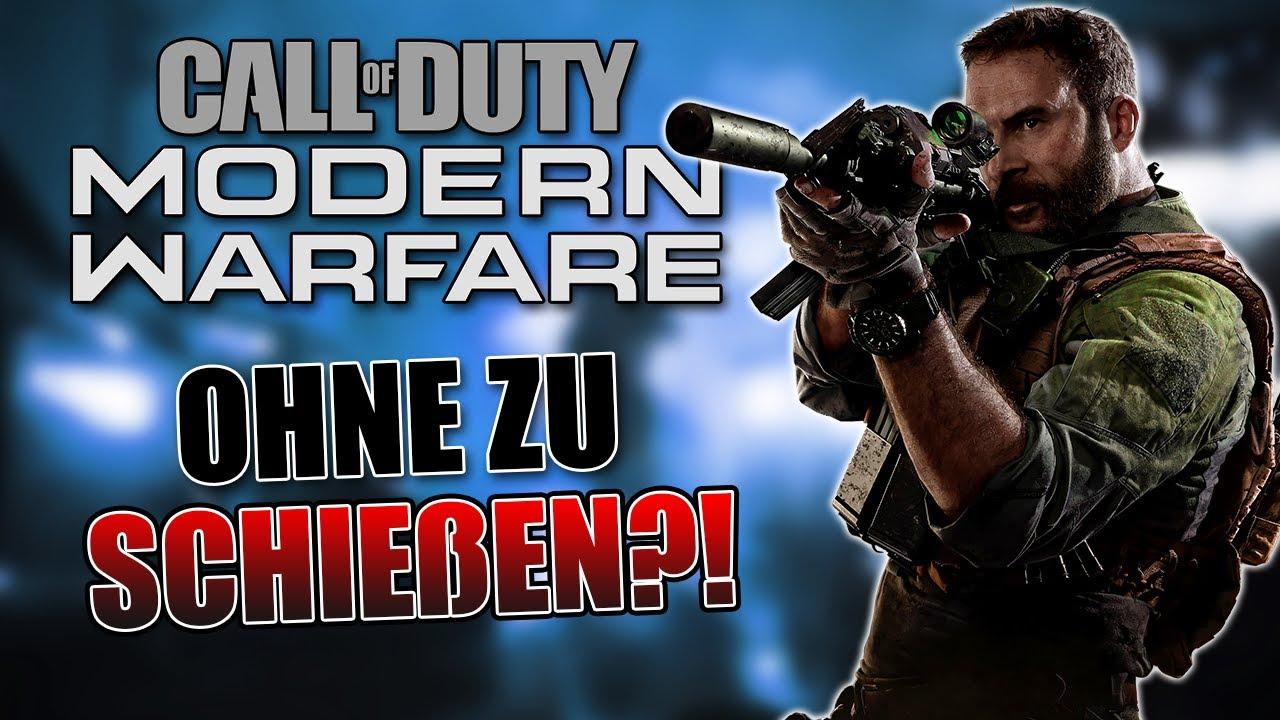 Kannst du Call of Duty: Modern Warfare durchspielen ohne zu schießen?!