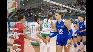 Украина — Болгария. Волейбол. Женщины. Чемпионат Европы 2017. 2 тур. Группа С