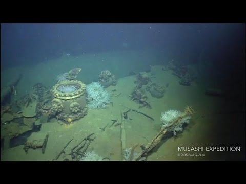 Watch: Underwater exploration of the Musashi wreck