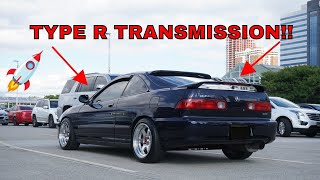 THE TEGGY GETS AN ITR TRANSMISSION!! (INTEGRA TYPE R)