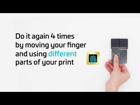 Thales Gemalto Biometric Payment card  Step#1: Easy Registration - Thales