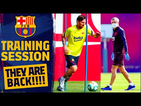 BARÇA IS BACK IN TRAINING.