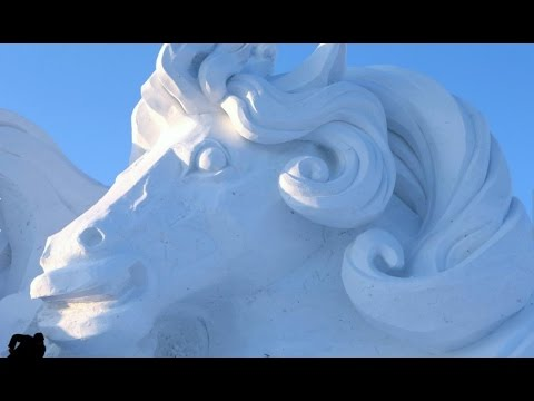 Live: Breathtaking snow sculptures at Snow Expo in Harbin, NE China