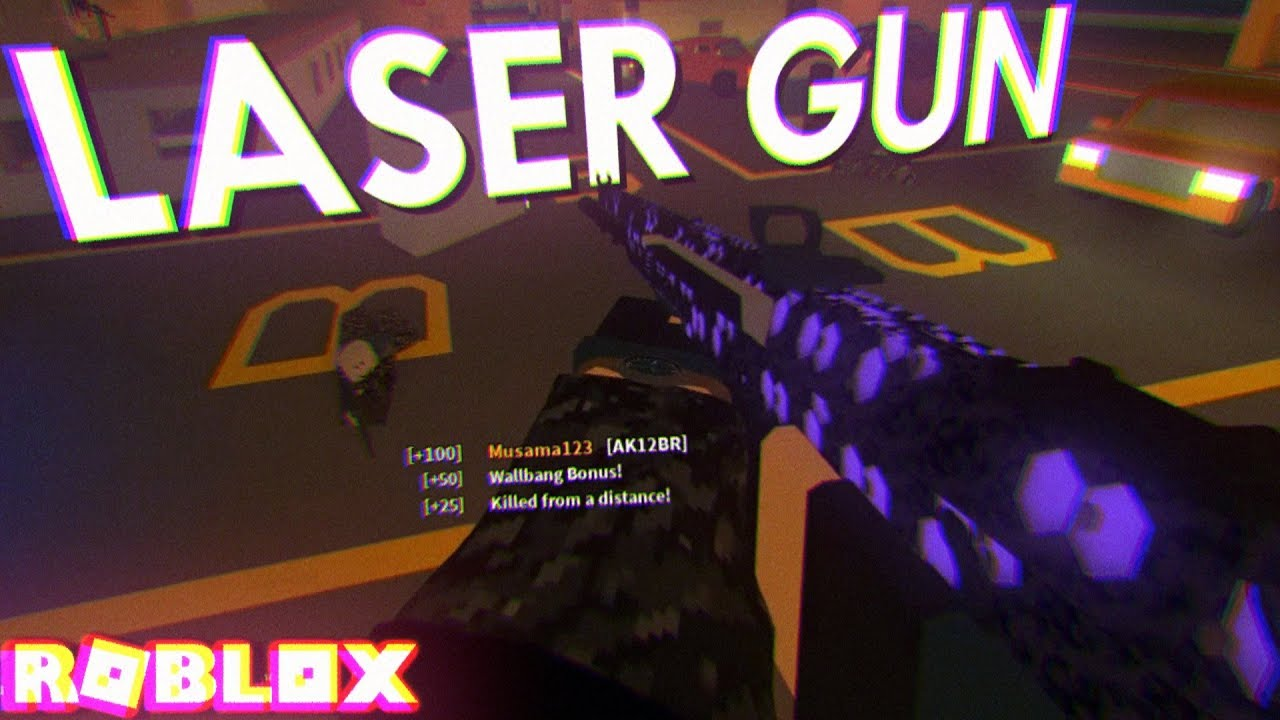 The Laser Gun In Phantom Forces Is Too Op Roblox Youtube