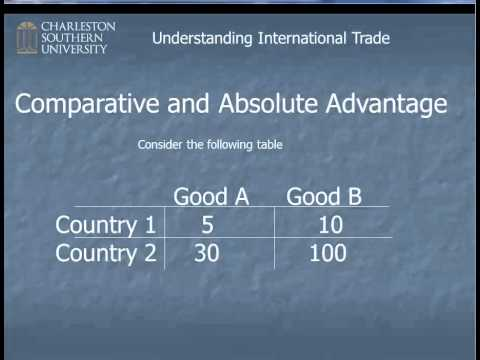 Comparitive and Absolute Advantage