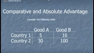 Comparitive and Absolute Advantage