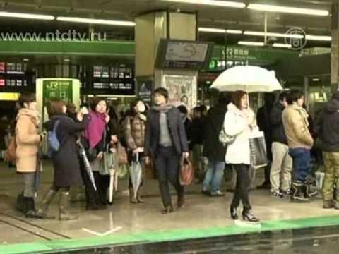 Неожиданный снегопад застиг Токио врасплох
