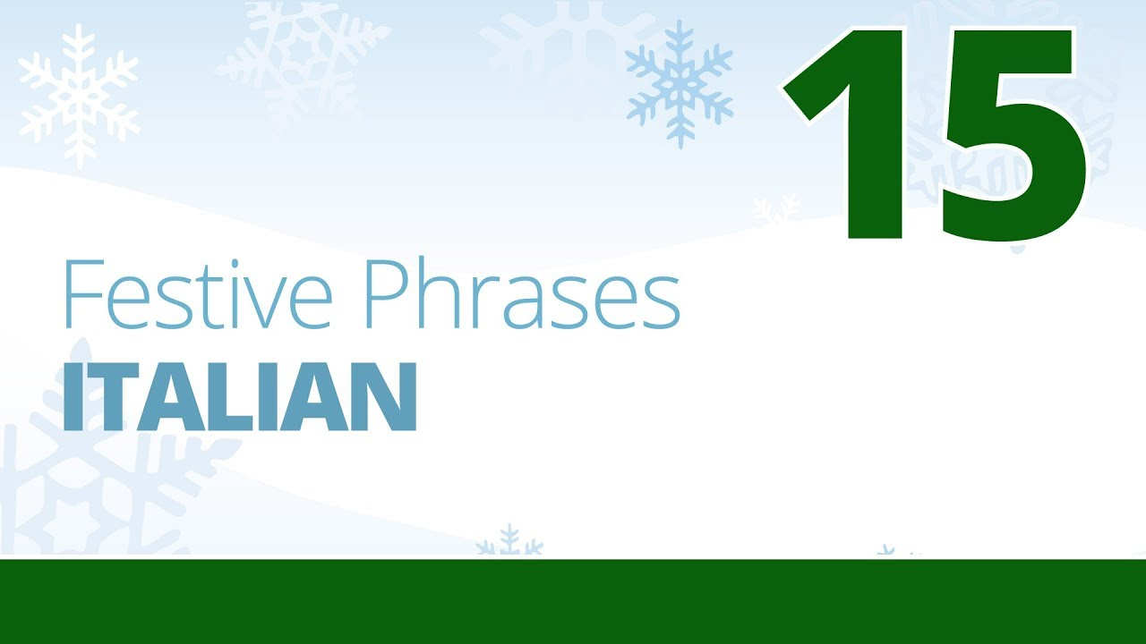 How To Say Merry Christmas In Italian.Learn To Say Merry Christmas In Italian Festive Phrases Episode 15