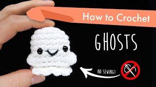 How to Crochet Gh๐sts || Beginner Halloween Amigurumi Pattern Tutorial