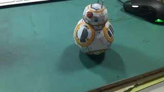 Star Wars Papercraft: Manufacturing BB-8 + silhouette file