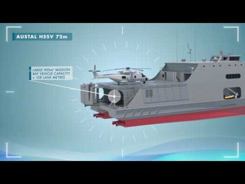 AUSTAL High Speed Support Vessel 72 metre