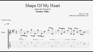 Скачать Shape Of My Heart TAB Acoustic Guitar Tab PDF Guitar Pro