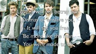 """Sigh No More"" - Mumford & Sons (Official Lyrics)"