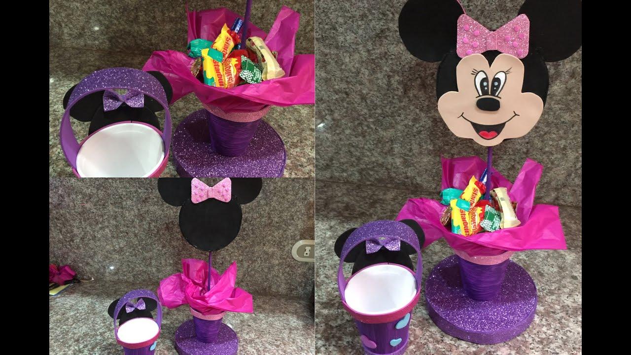 Minnie Hacer Centro De Mouse Un De Como Mesa