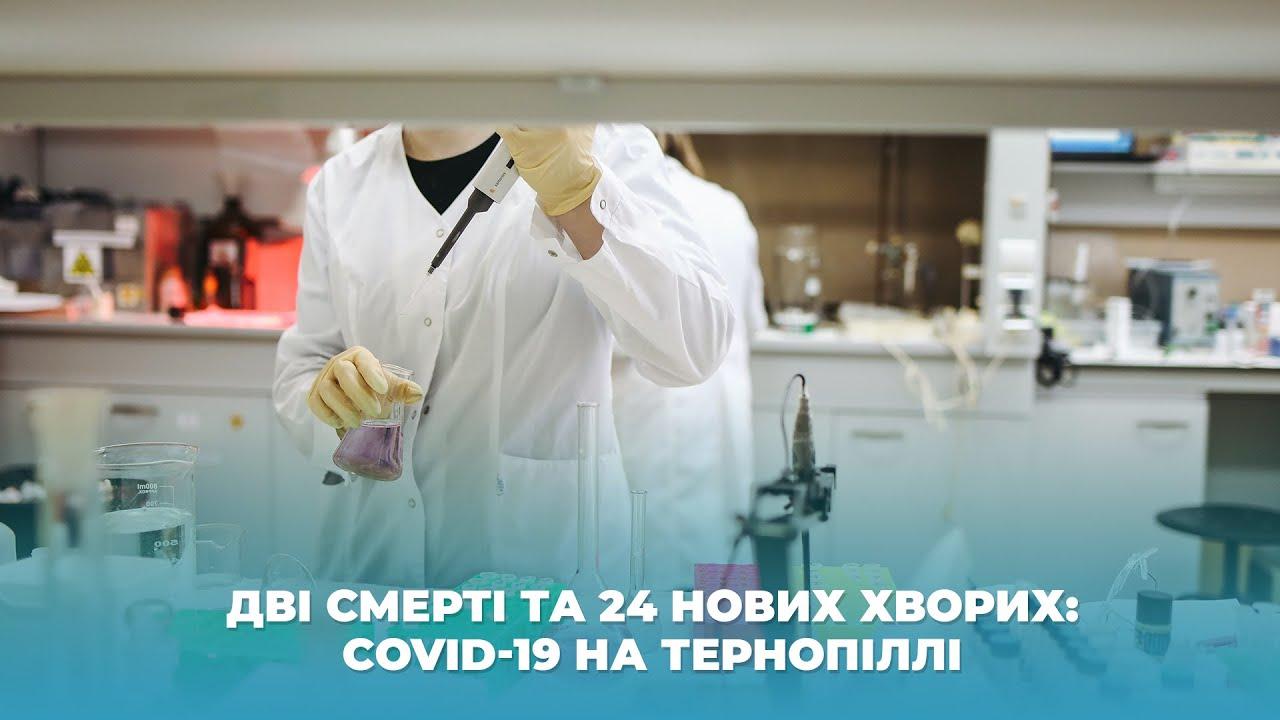 Дві смерті та 24 нових хворих: COVID-19 на Тернопіллі