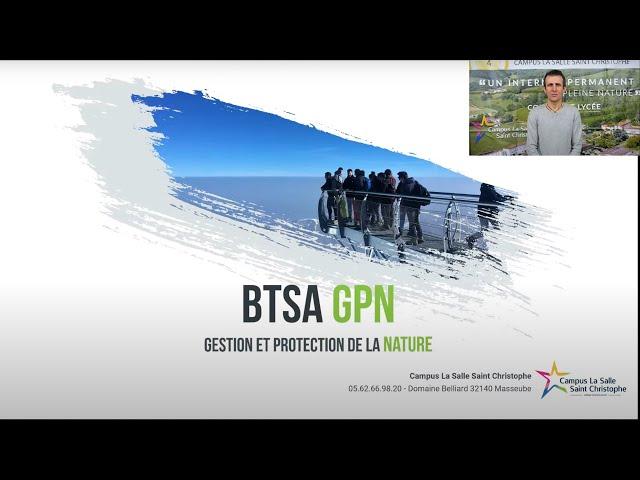 Webinaire - BTSA Gestion et Protection de la Nature