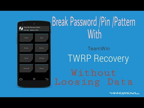 How to Remove Password/ Pin / Pattern Without Data loos With TWRP Recovery  (Bangla)