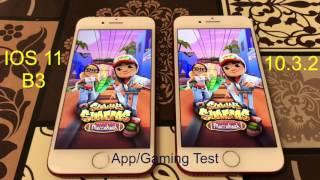 iPhone 7 speed test  ( ios 11 beta 3 vs 10.3.2