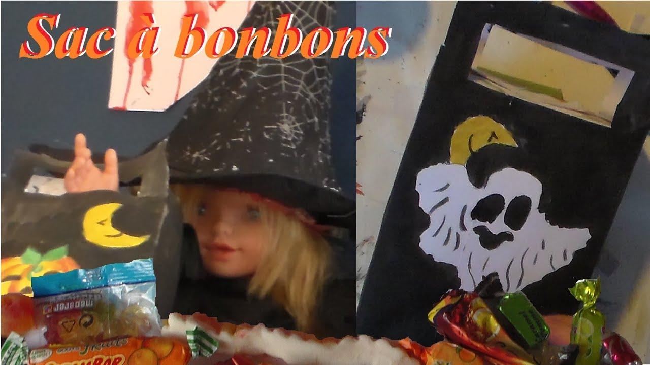Fabriquer un sac bonbons pour halloween activit - Fabriquer araignee pour halloween ...