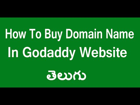 How To Buy Domain Name In Go Daddy Website Telugu   Buy Domain Name In Go daddy  Website Telugu
