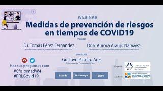 Webinar - Medidas de prevención de riesgos en tiempos de COVID19