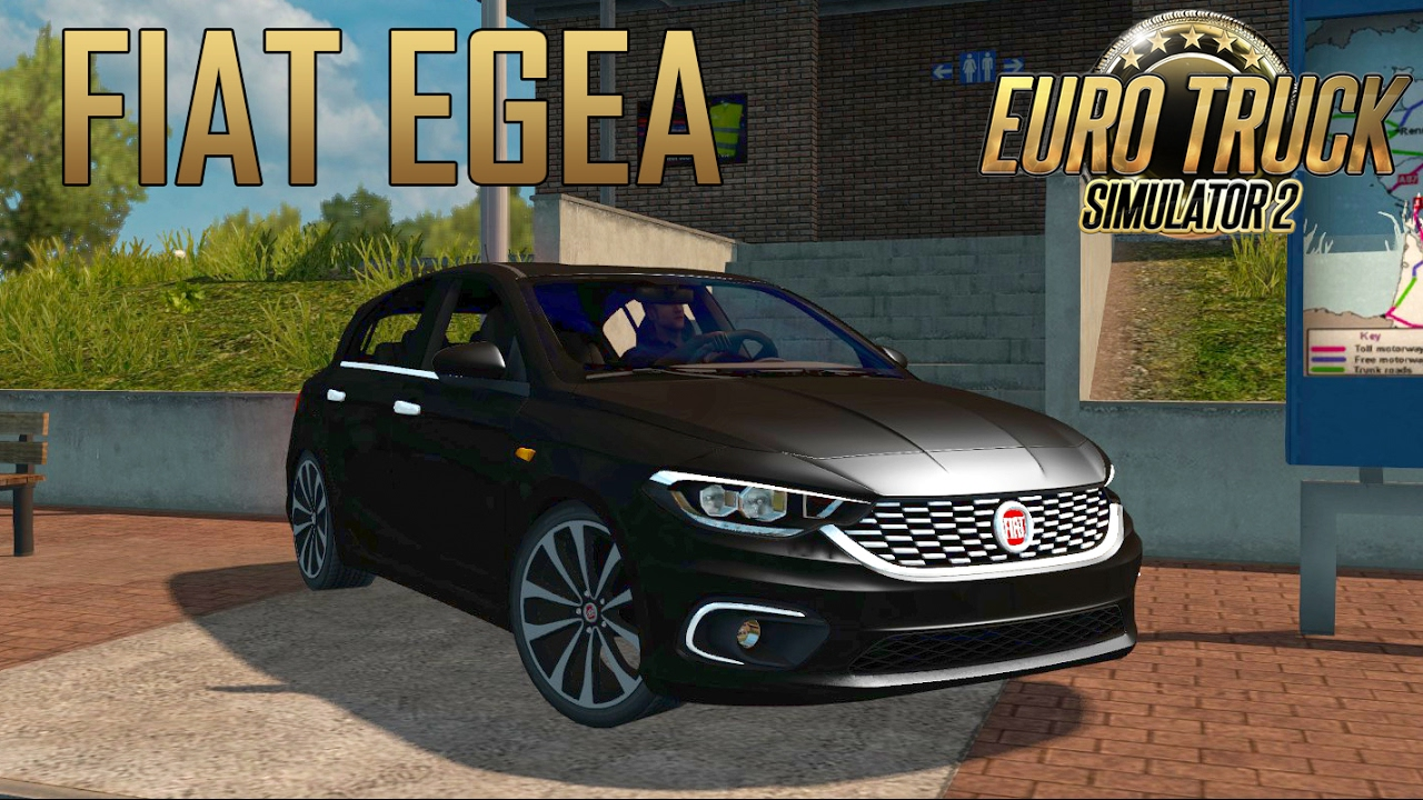 Ets2 Fiat Tipo Car Mod Euro Truck Simulator 2 Youtube