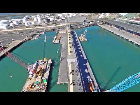 Port of Townsville Berth 6 and 7 Demolition Drone Footage