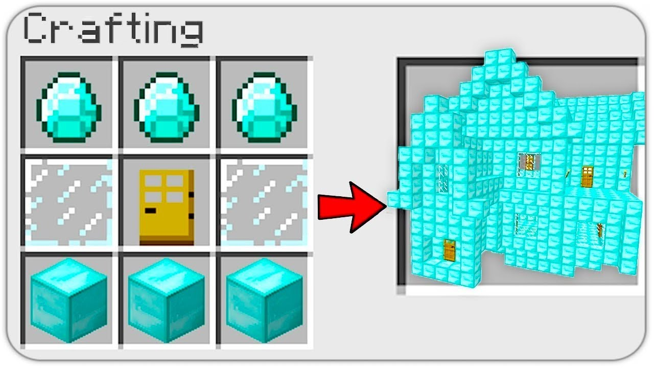 HOW TO CRAFT a DIAMOND HOUSE in MINECRAFT? SECRET RECIPE YouTube