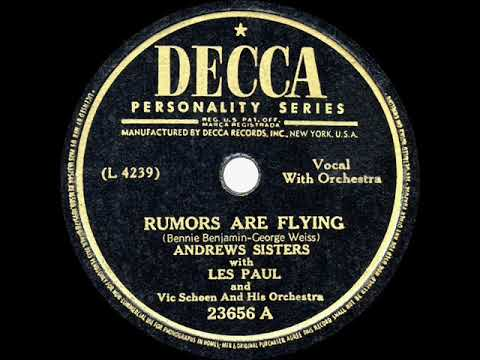 1946 HITS ARCHIVE: Rumors Are Flying - Andrews Sisters & Les Paul mp3