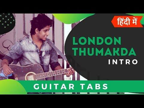 London Thumakda | Easy Hindi Guitar Tabs/Lead Lesson For Beginners | Queen