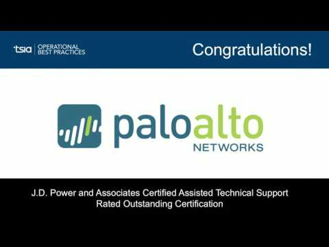 J.D. Power and Associates Certified Assisted Technical Support & Rated Outstanding: PaloAlto