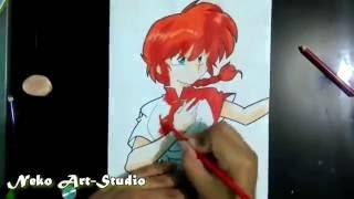 Drawing Ranma Girl / Dibujando a Ranma Saotome (Ranma 1/2)