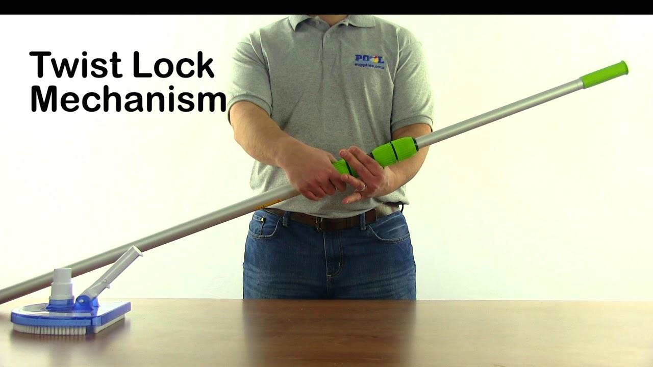 Aqua Select EZ-Clip 3-Section Telescoping Vacuum Pole w/ Rubber Grip