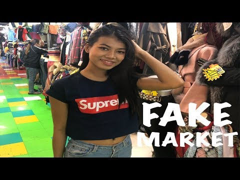 BANGKOK THAILAND FAKE MARKET SPREE!!!