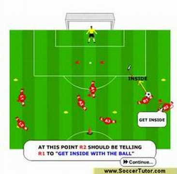 Soccer & Football Drills on Creating Space  Training Video