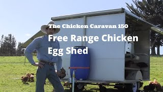 The Chicken Caravan 150 - Free Range Chicken Egg Shed