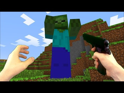 Realistic Minecraft - HOW TO CRAFT A PISTOL
