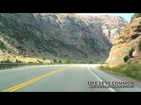 Drive Thru Wind River Canyon