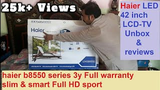 unbox and review haier led tv 40