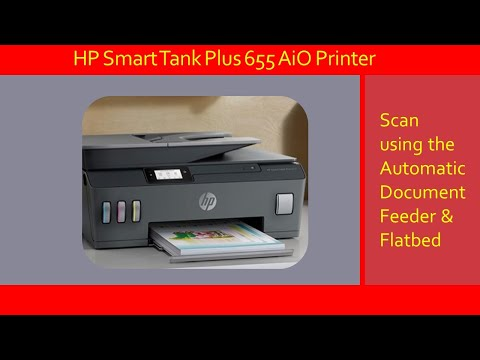HP Smart Tank 651 | 655 Printer : Scan using the Automatic Document Feeder & Flatbed Scanner