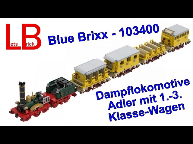 Blue Brixx - 103400 - Dampflokomotive Adler Zugset